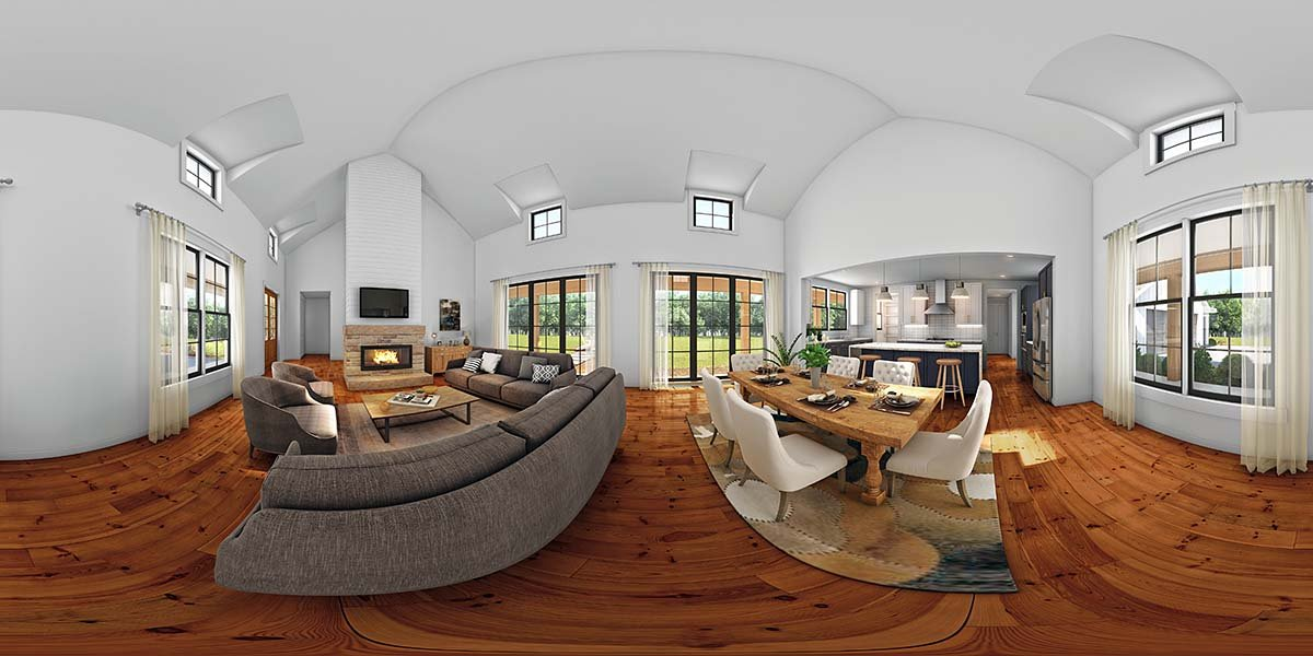 Farmhouse House Plan 81268 with 3 Beds, 3 Baths, 3 Car Garage Picture 1
