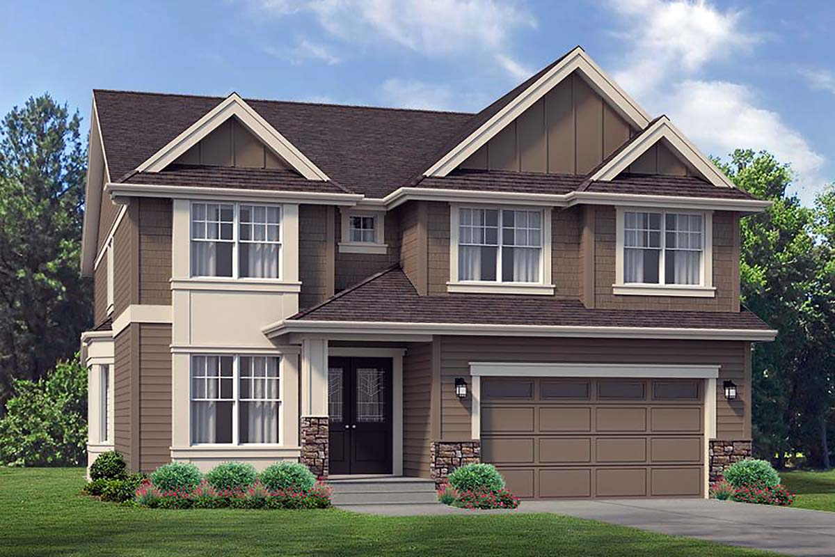 Craftsman, Traditional House Plan 81924 with 4 Beds, 3 Baths, 2 Car Garage Elevation
