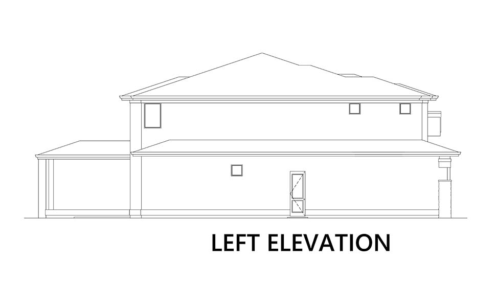 Modern House Plan 81926 with 5 Beds, 4 Baths, 4 Car Garage Picture 4