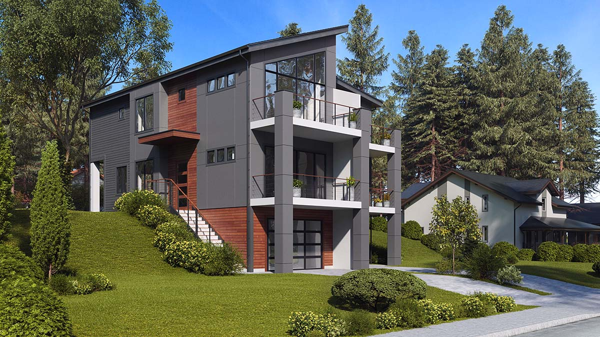 Contemporary, Modern Multi-Family Plan 81940 with 6 Beds, 6 Baths, 3 Car Garage Picture 1