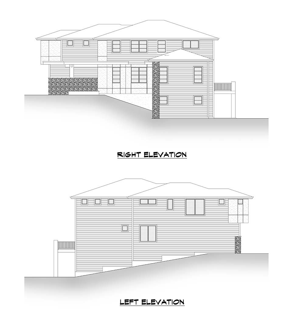 Contemporary, Modern House Plan 81947 with 6 Beds, 5 Baths, 2 Car Garage Picture 4