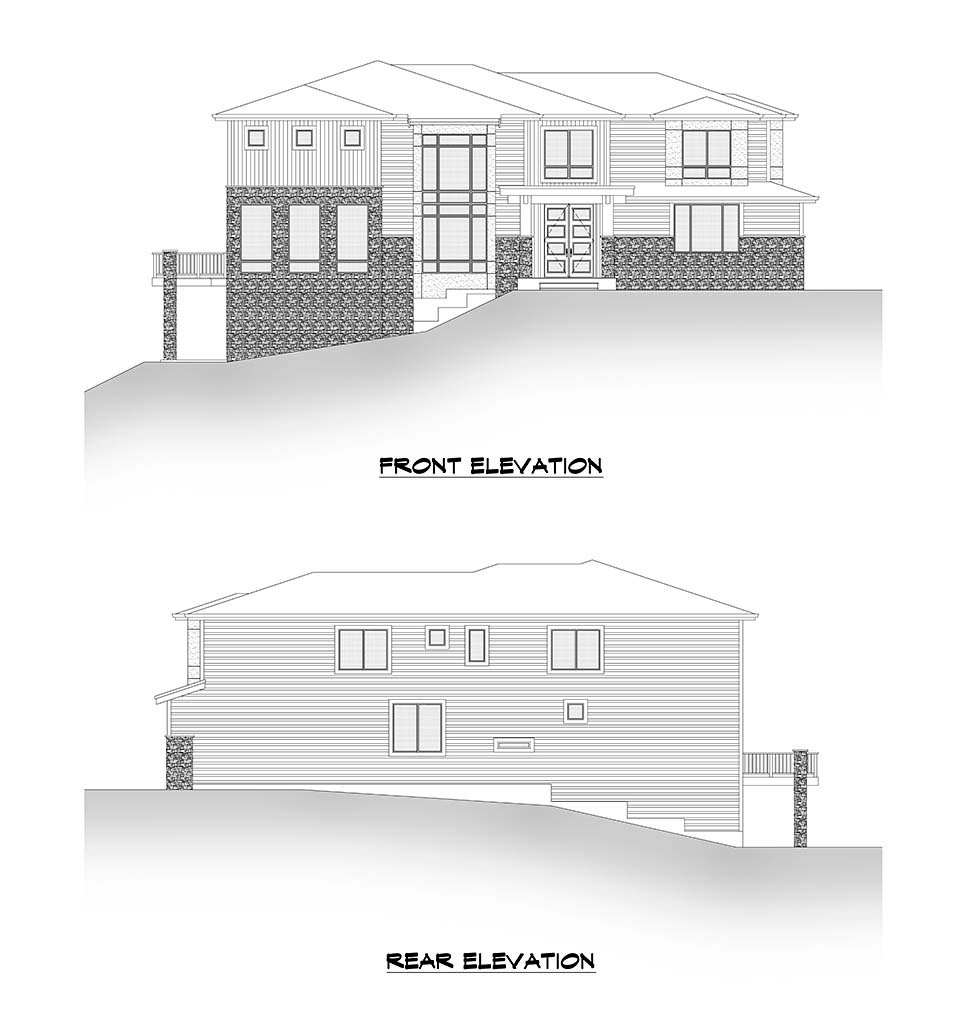 Contemporary, Modern House Plan 81948 with 6 Beds, 5 Baths, 3 Car Garage Picture 3