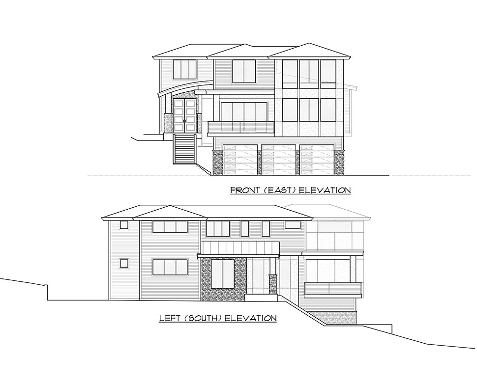 Contemporary, Modern House Plan 81950 with 4 Beds, 4 Baths, 3 Car Garage Picture 3