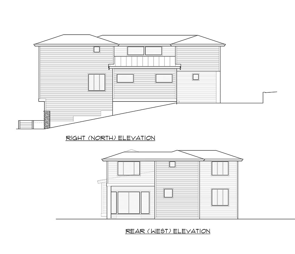 Contemporary, Modern House Plan 81950 with 4 Beds, 4 Baths, 3 Car Garage Picture 4