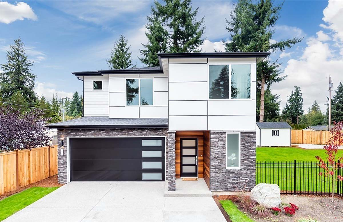 Contemporary, Modern House Plan 81951 with 3 Beds, 3 Baths, 2 Car Garage Elevation