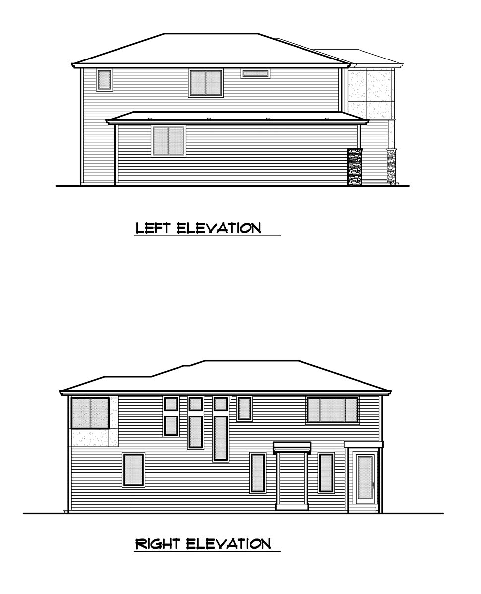 Contemporary, Modern House Plan 81951 with 3 Beds, 3 Baths, 2 Car Garage Picture 18