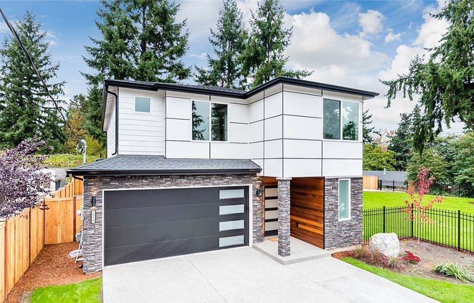 Contemporary, Modern House Plan 81951 with 3 Beds, 3 Baths, 2 Car Garage Picture 2