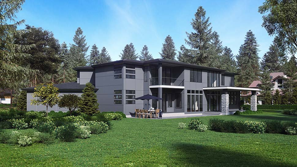 Contemporary, Modern House Plan 81955 with 4 Beds, 5 Baths, 3 Car Garage Picture 4