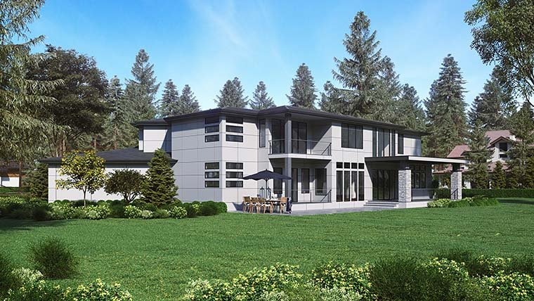 Contemporary, Modern House Plan 81955 with 4 Beds, 5 Baths, 3 Car Garage Picture 5