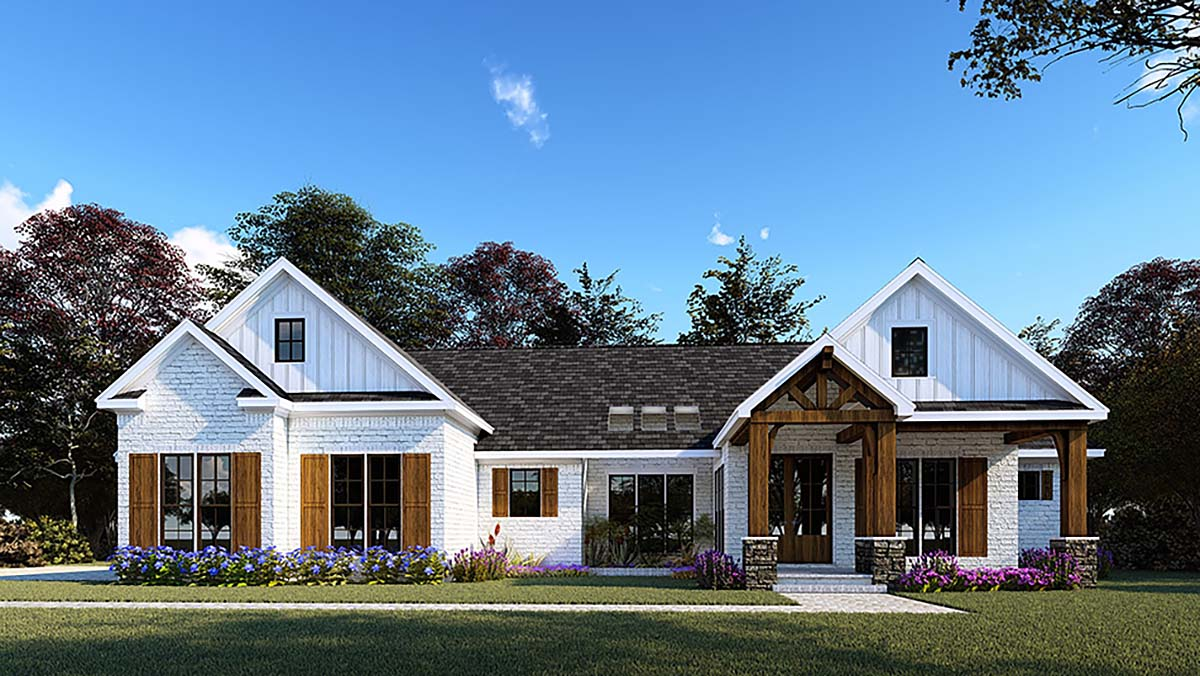House Plan 82557 - One-Story Style with 2073 Sq Ft, 3 Bed, 2 Bath, 2 Half  Bath