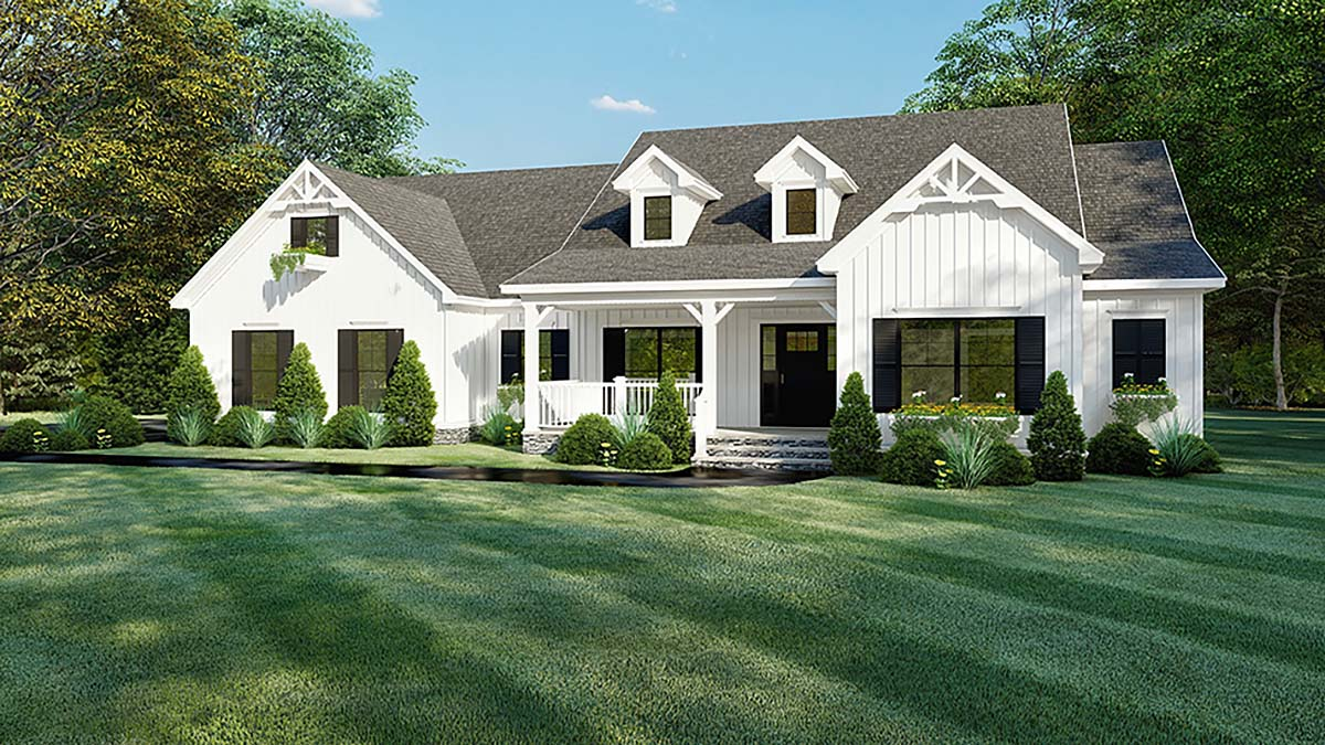 House Plan 82560 - One-Story Style with 2294 Sq Ft, 4 Bed, 2 Bath, 2 Half  Bath