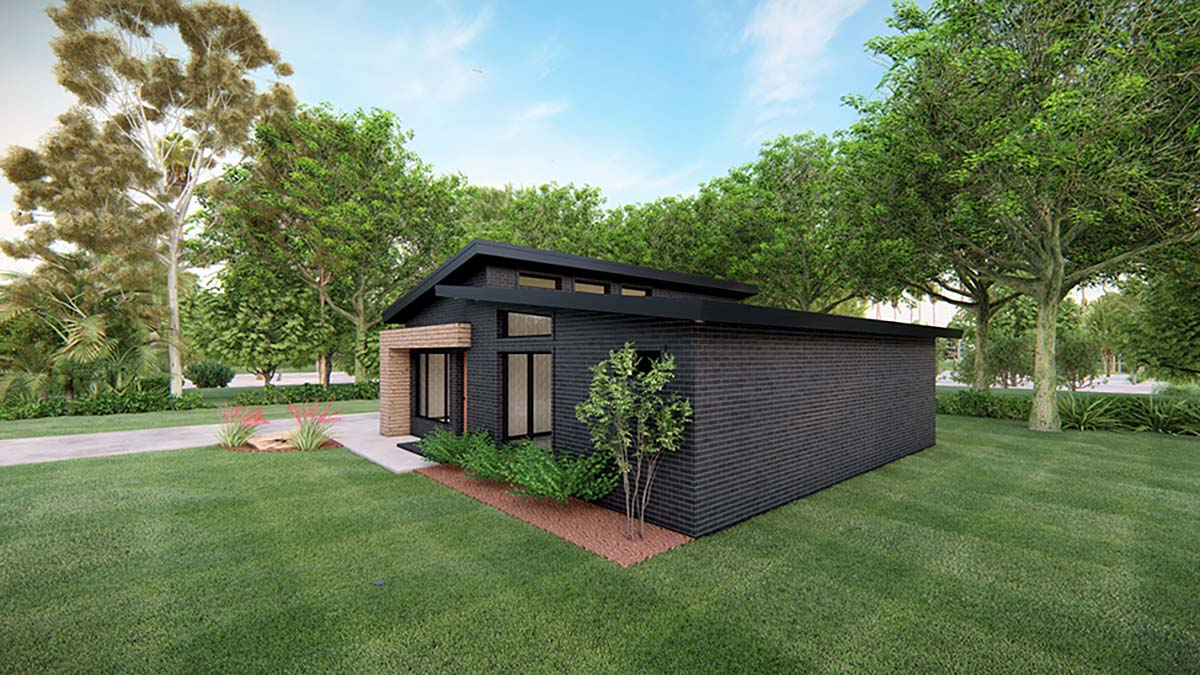 Modern House Plan 82569 with 3 Beds, 2 Baths, 1 Car Garage Picture 1