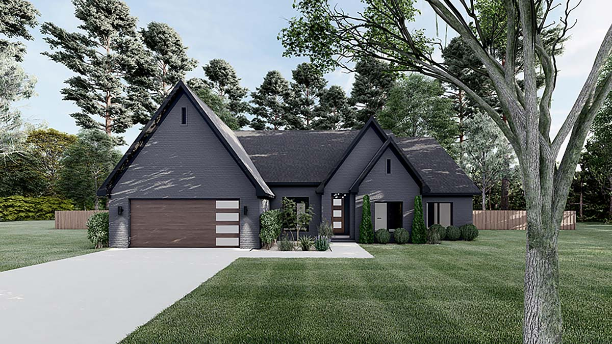 Contemporary, Craftsman, European House Plan 82590 with 4 Beds, 3 Baths, 2 Car Garage Elevation