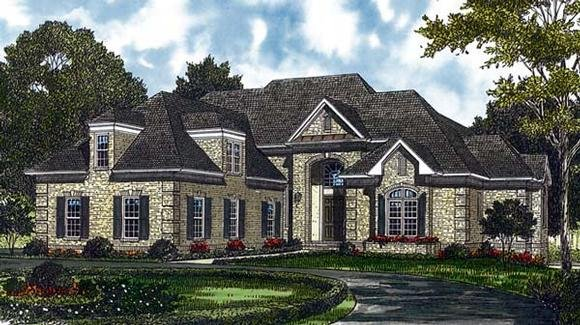 Traditional House Plan 85423 with 5 Beds, 5 Baths, 2 Car Garage Elevation