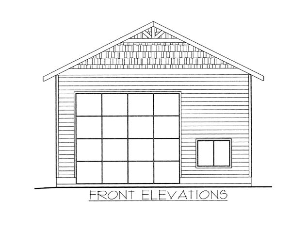 1 Car Garage Plan 86583 Elevation