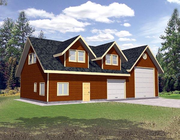3 Car Garage Plan 86888, RV Storage Elevation