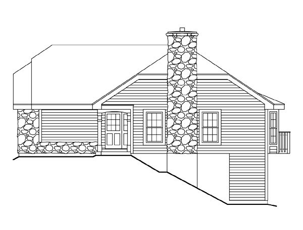 Cabin, Cottage, Country, Ranch House Plan 86986 with 2 Beds, 2 Baths, 1 Car Garage Picture 2