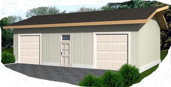 2 Car Garage Plan 87036 Elevation