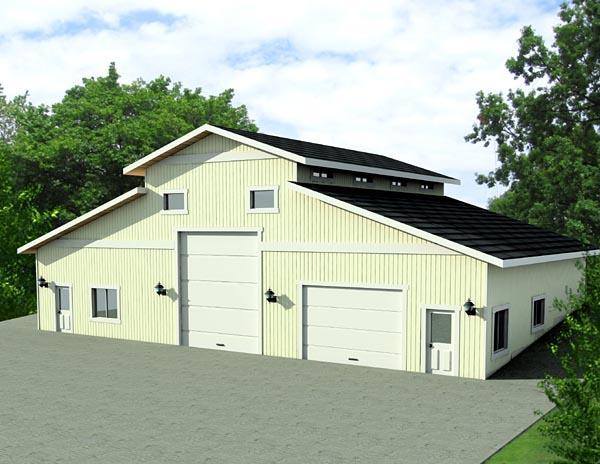 3 Car Garage Plan 87275, RV Storage Elevation