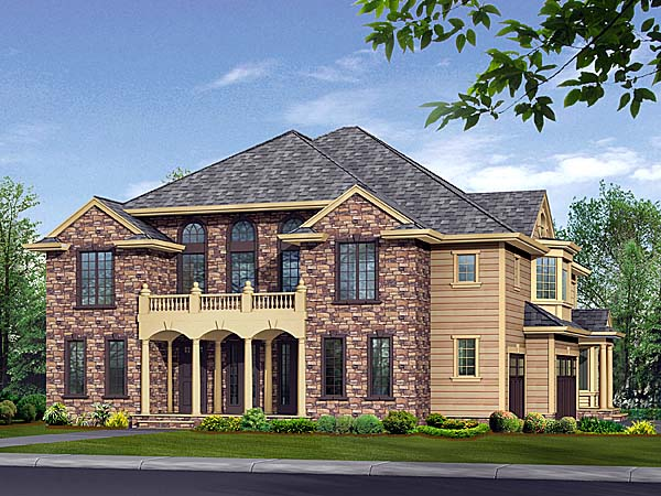 European House Plan 87613 with 5 Beds, 6 Baths, 3 Car Garage Elevation