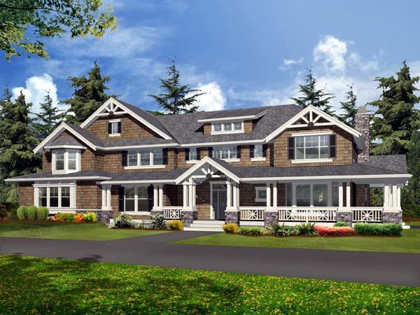 Craftsman House Plan 87670 with 4 Beds, 5 Baths, 4 Car Garage Elevation