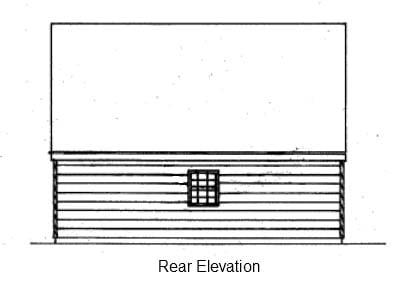 2 Car Garage Plan 87823 Rear Elevation