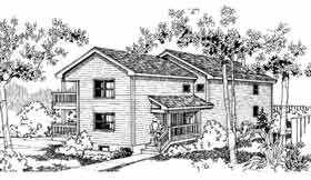Traditional Multi-Family Plan 91320 with 6 Beds, 4 Baths Elevation