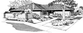 Ranch Multi-Family Plan 91332 with 6 Beds, 4 Baths, 2 Car Garage Elevation