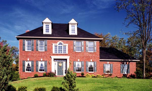 Colonial, European House Plan 92623 with 4 Beds, 3 Baths, 2 Car Garage Elevation