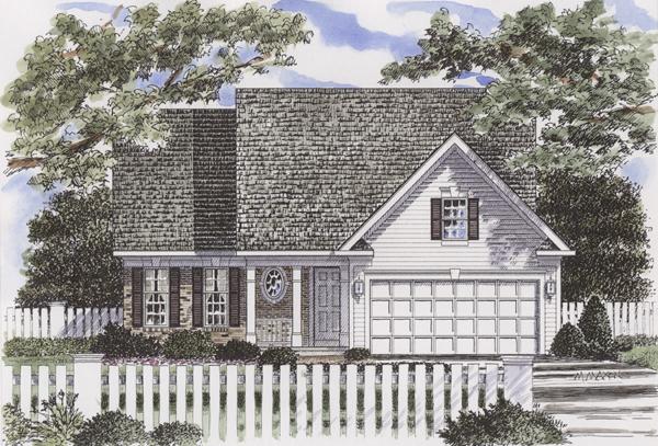 Cape Cod House Plan 94154 with 3 Beds, 3 Baths, 2 Car Garage Elevation