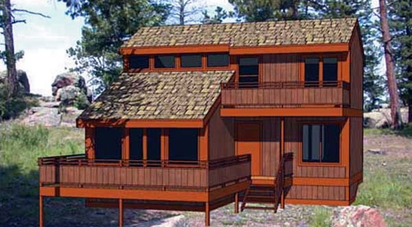 Contemporary House Plan 94306 with 3 Beds, 2 Baths Elevation