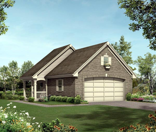 2 Car Garage Apartment Plan 95918 Elevation