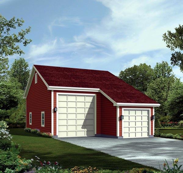 2 Car Garage Plan 95923, RV Storage Elevation