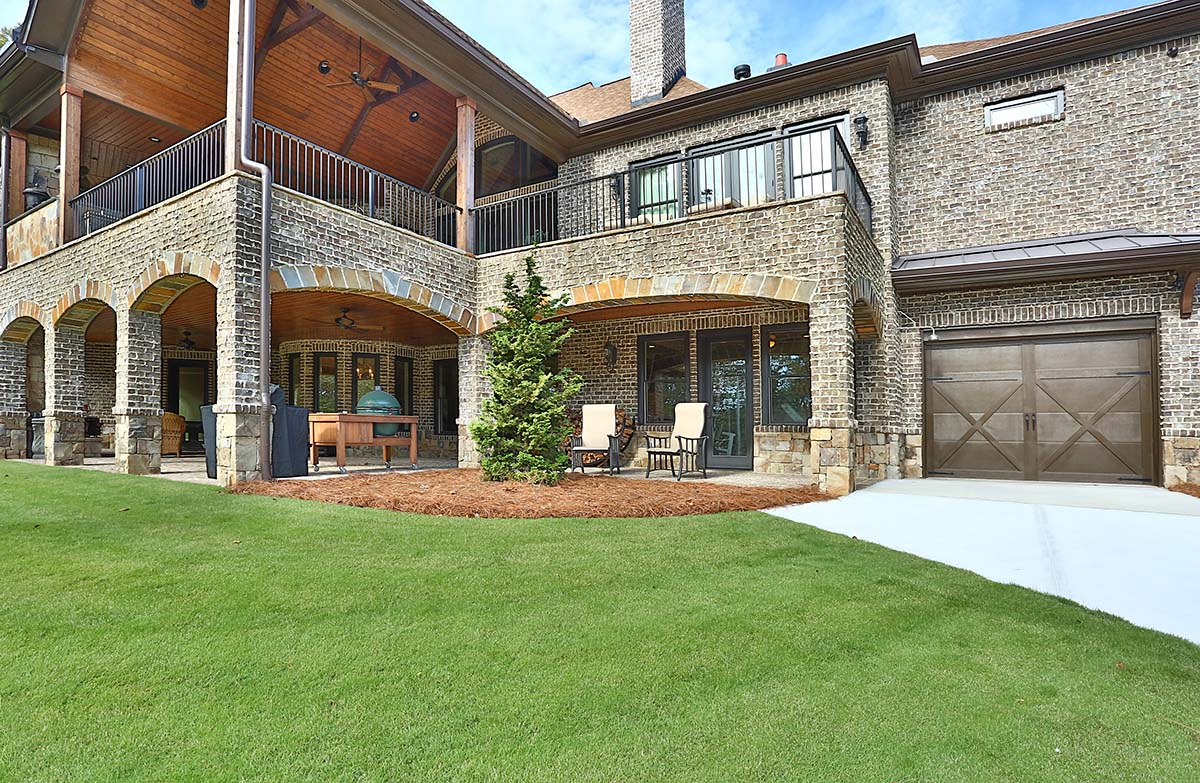 Craftsman, Ranch, Tuscan House Plan 97680 with 3 Beds, 4 Baths, 3 Car Garage Rear Elevation