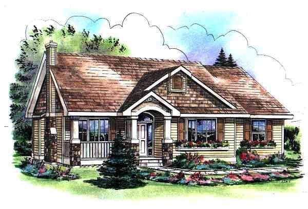 Bungalow, Craftsman House Plan 98890 with 3 Beds, 2 Baths, 2 Car Garage Elevation