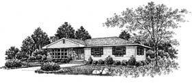 One-Story, Ranch House Plan 99047 with 3 Beds, 2 Baths Elevation