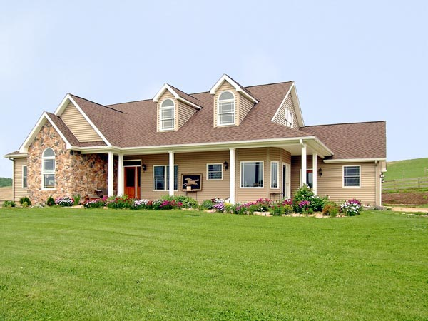 Cape Cod, Country House Plan 99680 with 3 Beds, 2 Baths, 2 Car Garage Elevation