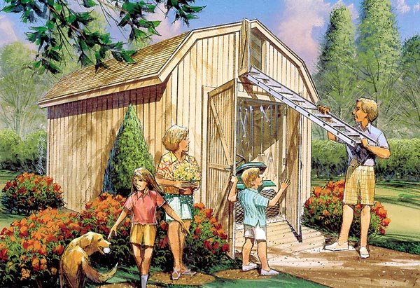 Yard Barn with Loft Storage
